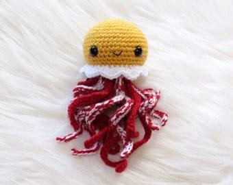 Amigurumi Jellyfish - Breakfast Jellyfish - Eggs And Bacon Jellyfish - Crochet Jellyfish - Breakfast Lovers