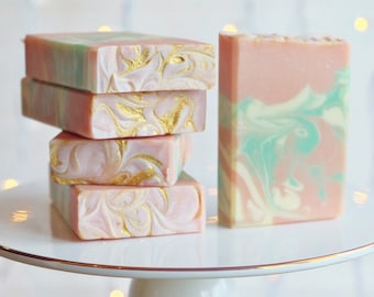 Lily of the Valley handcrafted soap with Goat Milk and Kaolin clay
