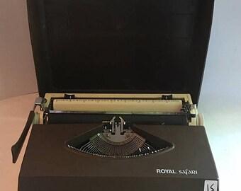 CANADA 150 SALE Mid century portable typewriter. Royal safari portable typewriter. Manual typewriter royal safari IV. Brown Rsiv typewriter