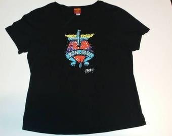 Women's Bon Jovi Hard Rock Cafe Authentic T Shirt XL tee