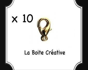10 LOBSTER CLASP IN METAL COLOR GOLD