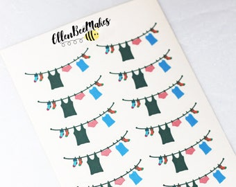 Mini Clothing/Washing Line Stickers