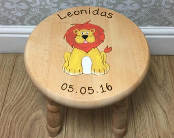 Roar Roar the Lion Personalised Stool