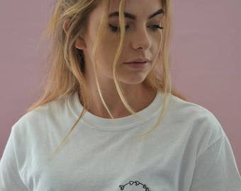 Initial Embroidered white t-shirt