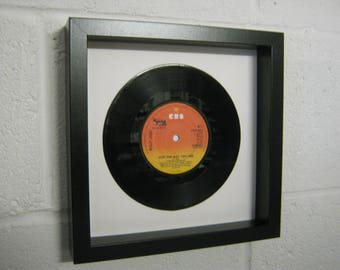 """Billy Joel """"Just The Way You Are"""" Special Unique Wall Framed 7"""" Vinyl Record Wedding Anniversary Christmas Birthday Recycled Gift Present"""