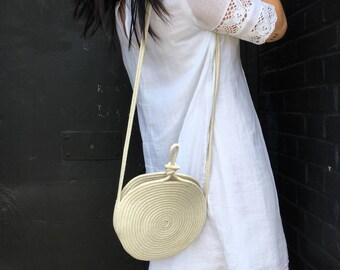 Small crossbody bag  rope purse
