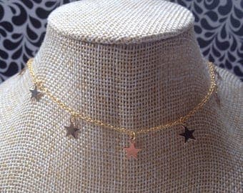 CHOKER With STAR CHARMS