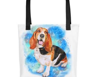 Basset Hound Tote,Dog Tote Bag,Cute Basset Hound,Basset Hound,Dog Tote,Christmas Gift,Tote Bag,Basset Hound Bag,Basset Hound Gift, Christmas