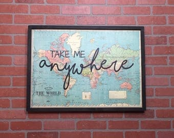 Take Me Anywhere Large Framed Print