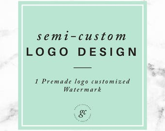 Semi Custom Logo Design Blog Logo Photography Logo