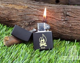 Black Engraved Zippo Lighter