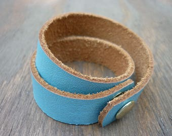 Double Wrapped Leather Bracelet