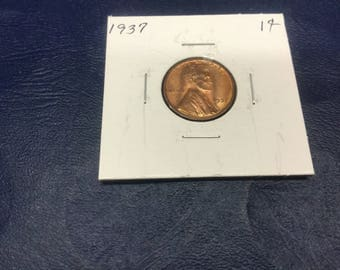 1937 wheat Lincoln Cents - Uncirculated