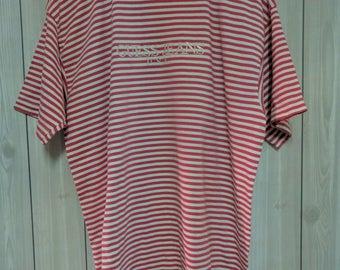 vintage 90s guess jeans usa stripe men t-shirt size L asap rocky rare!!