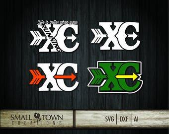 Cross Country SVG - Cut Files - Vinyl Cutters, Screen Printing, Silhouette, Die Cut Machines, & More