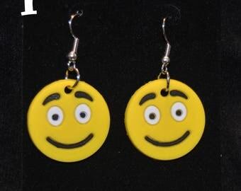 Emoji  Earrings, The Emoji Movie Earrings,  Emoticon  Smiley Face Jewelry