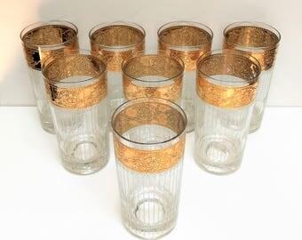 Hollywood Regency Culver, Ltd. Tyrol High Ball Glasses, Set of 8