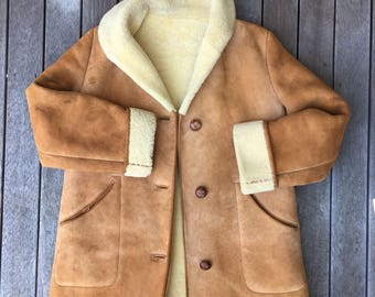 Shearling overcoat | Etsy