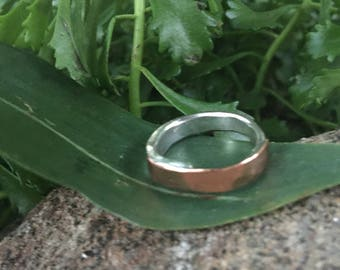 copper ring-size 6 ring-Silverware ring-flatware jewelry-silver copper ring-boho ring-copper jewelry-simple ring-silver ring-fork jewelry