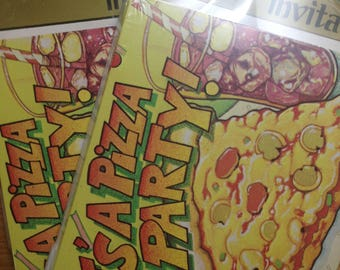 Vintage 70's C.A.Reed Pizza Party Invitations