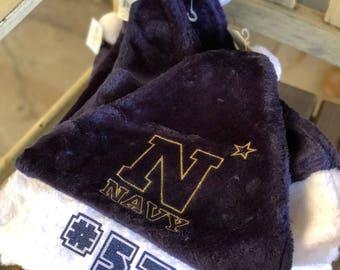 Navy Santa hats