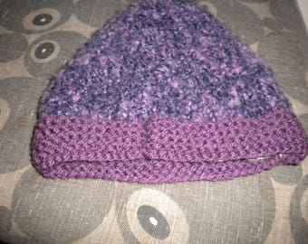 woolen Hat girl is hand colored two-tone black/purple