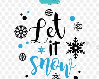 Let it snow svg, Christmas svg, Christmas quote svg, merry Christmas svg, Christmas svg files, Christmas SVG, Christmas tree SVG.   cr9