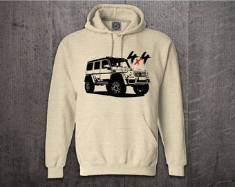 Mercedes G 4x4 Hoodie, cars hoodies, mercedes benz sweater, Benz G wagon hoodies, benz hoodies, Cars t shirts, Mercdes G t shirts, AMG 4x4