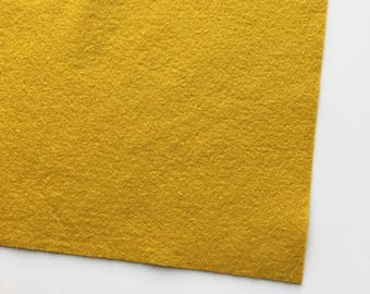 Old Gold Wool Blend Felt