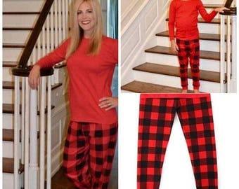 FLASH SALE - Plaid Christmas Pajamas - Christmas Pajamas for the family -Family Christmas PJs