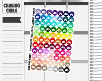 Gaming Controller Icons #MCS38 Premium Matte Planner Stickers