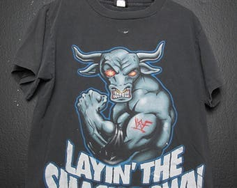 The Rock Layin' The Smack Down WWE WWF wrestling vintage Tshirt