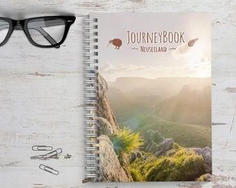 Neuseeland Reisetagebuch mit kleinen Aufgaben & Reise-Zitaten - zum selberschreiben oder als Abschiedsgeschenk - JourneyBook