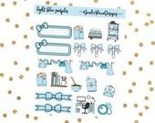 Light Blue Sampler, Bow Planner Stickers