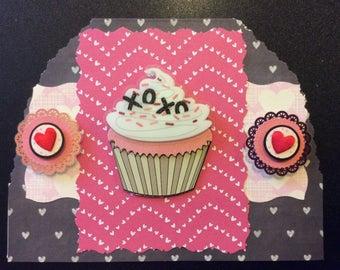 "Valentine ""XO XO, Homemade Valentine Card"