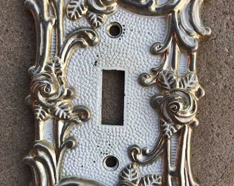 Brass Lightswitch Cover Plate - 1967 American Tack & Hardware, Outlet, Wall Lightswitch, Vintage, Décor