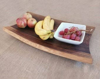 Fruit Bowl made from Oak Wine Barrel Staves. Simple, Elegant and Rustic Kitchen Feature