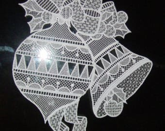 Machine embroidery window decoration