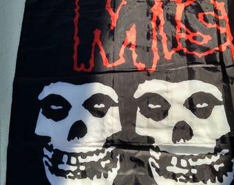 Black Silky Rock Banner The Misfits