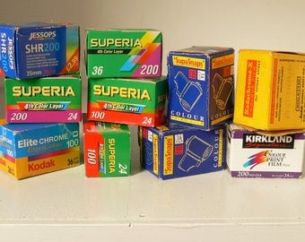 """Assortment of 35mm Camera Film - Colour Film """"For All Conditions"""" -  Different Exposures - 10 Available"""