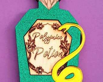 POLYJUICE potion Harry Potter Halloween acrylic cosplay brooch