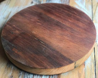"""14"""" Reclaimed Red Wood Lazy Susan 