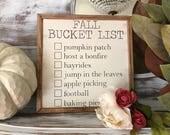 12x12, Fall Bucket List H...