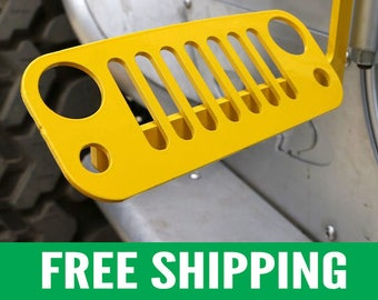 Jeep Foot Pegs for JK Wrangler | Yellow Pair