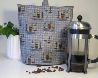 French press cozy, Coffee cosy, Cafetiere warmer, French press cover, Fabric coffee cosy