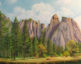 The Allure of Yosemite/National Park/landscape painting/ Yosemite National Park/ California/ West/interior design/art design /