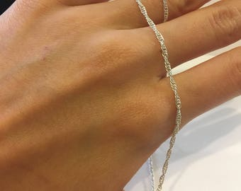 """Sterling Silver 16"""" Loose Rope Chain"""
