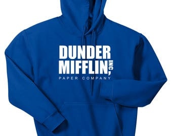 Dunder Mifflin Hoodie, Dunder Mifflin Paper Company Hooded Sweatshirt, Sizes S-5XL, Gift for Her, Gift For Him. 18500