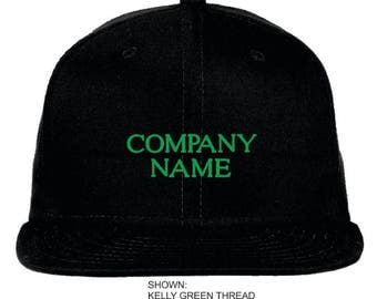 Personalized Company Snapback Cap, New Era Flat Bill Hat, Custom Company Name Snapback Hat, Personalized Name, Gift for the Company. NE400