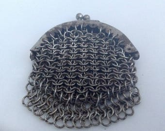 Vintage Chain link purse late 19th Centuary ( Ref no A245 )